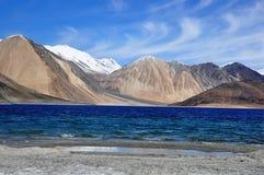 Lago Ladakh India Pangong Fotografie Stock Libere da Diritti