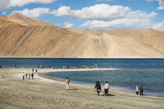 Lago Ladakh, la India Pangong Imagen de archivo libre de regalías