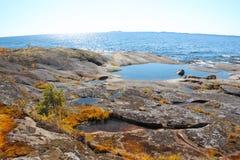 Lago Ladoga Carélia Fotografia de Stock Royalty Free
