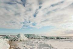 Lago ladoga del invierno Fotos de archivo