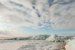 Lago ladoga del invierno Foto de archivo