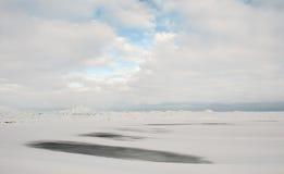 Lago ladoga del invierno Fotos de archivo libres de regalías