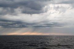 Lago ladoga en Rusia Fotografía de archivo