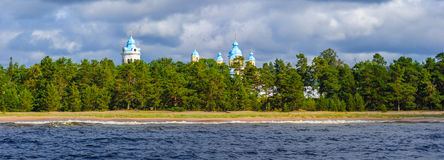 Lago ladoga, Rússia Imagens de Stock