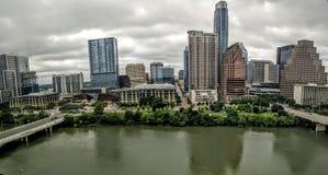 Lago lady Bird en Austin céntrico TX Imagenes de archivo