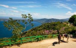 Lago Laguna de Apoyo, Nicarágua foto de stock royalty free