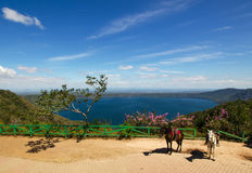 Lago Laguna de Apoyo, Nicaragua Immagini Stock Libere da Diritti