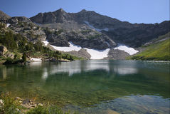Lago Lamoille in Ruby Mountains Immagini Stock