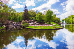 Lago landscape com uma reflexão Imagem de Stock Royalty Free