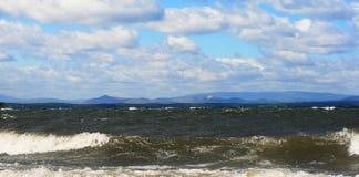 Lago landscape su Ural Fotografie Stock Libere da Diritti