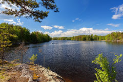 Lago Lappeenranta próximo Saimaa Fotos de Stock