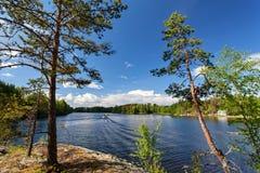 Lago Lappeenranta vicino Saimaa Fotografie Stock Libere da Diritti
