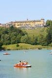 Lago Lavarone in Chiesa, Trentino Alto Adige, Italia Fotografia Stock Libera da Diritti