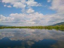 Lago lay da pensão em Shan State Imagem de Stock