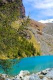 Lago Layet, anche chiamato Lago blu, nella valle d'Aosta Fotografie Stock