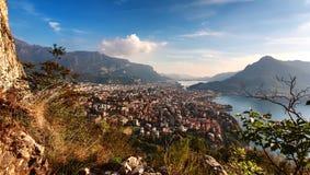 Lago Lecco, Lombardía, Italia Imagen de archivo libre de regalías