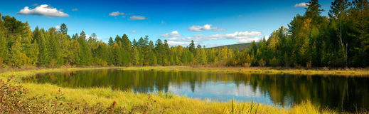 Lago lejano Fotografía de archivo