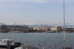 Lago Leman Geneve Imagen de archivo
