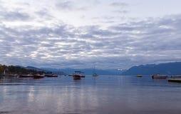 Lago Leman na manhã Fotografia de Stock