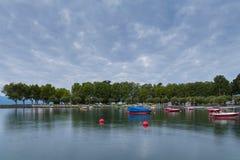 Lago Leman na manhã Imagens de Stock