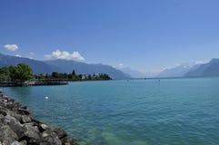 Lago Leman Suiza imagen de archivo