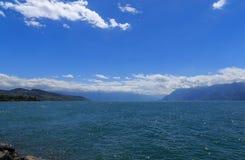 Lago Leman Switzerland do scape da água Imagem de Stock