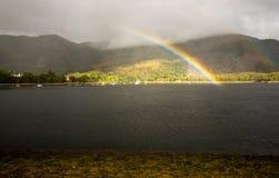 Lago Leven Rainbow Foto de archivo libre de regalías