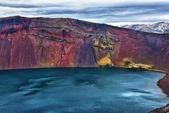 Lago Ljotipollur Fotografia Stock