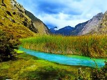 Lago LLanganuco fotografia de stock royalty free