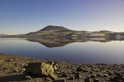 Lago Llyn Celyn in Snowdonia Galles Fotografia Stock