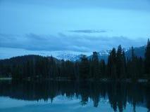 Lago lodge do parque do jaspe Imagens de Stock