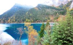 Lago longo, Jiuzhaigou Fotografia de Stock