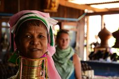 Lago longo Myanmar Inle da mulher do pescoço Imagem de Stock