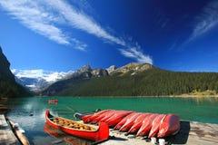 Lago Louis, parque nacional de Banff Foto de archivo