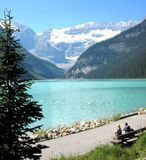 Lago Louise Fotografie Stock Libere da Diritti