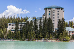 Lago Louise Fairmont Chateau Fotografia de Stock Royalty Free