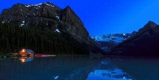 Lago Louise Night Fotos de archivo