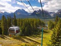 Lago Louise Ski Resort Gondola Summer, Banff NP Imagem de Stock