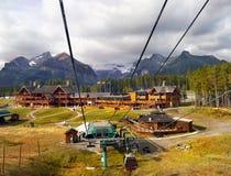 Lago Louise Ski Resort Gondola Summer, Banff NP Fotos de Stock Royalty Free
