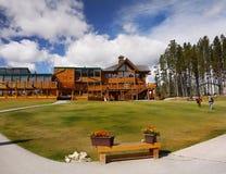 Lago Louise Ski Resort Gondola Summer, Banff NP Imagem de Stock Royalty Free