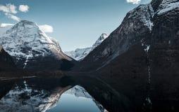 Lago Lovatnet en el valle de Lodalen, Noruega Fotografía de archivo