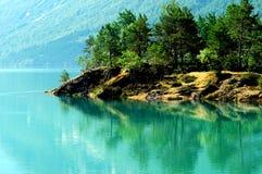 Lago Lovatnet, Norvegia Immagine Stock Libera da Diritti