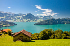 Lago Lucerna, Svizzera Fotografia Stock Libera da Diritti