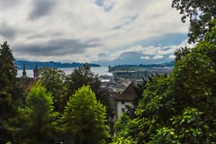 Lago Lucerna, Svizzera Fotografia Stock
