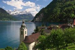 Lago Lucerne de Bauen Foto de Stock