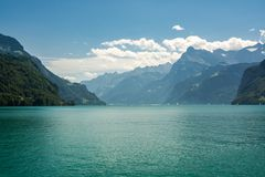 Lago Lucerne em Switzerland fotografia de stock royalty free