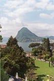 Lago Lugano Fotos de archivo