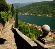 Lago Lugano Fotografie Stock