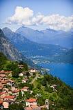 Lago Lugano Imagenes de archivo