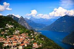 Lago Lugano Foto de archivo libre de regalías